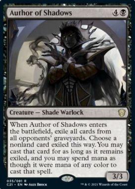 Author of Shadows(統率者2021:ストリクスヘイヴン 統率者デッキ)