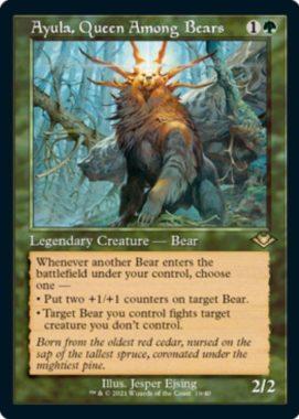 熊の女王、アイユーラ(Ayula, Queen Among Bears)モダンホライゾン2