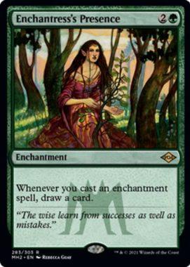 女魔術師の存在(Enchantress's Presence)モダンホライゾン2