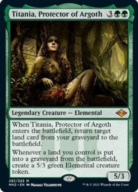 アルゴスの庇護者、ティタニア(Titania, Protector of Argoth)モダンホライゾン2