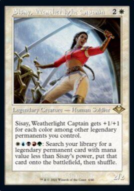 ウェザーライトの艦長、シッセイ(Sisay, Weatherlight Captain)モダンホライゾン2