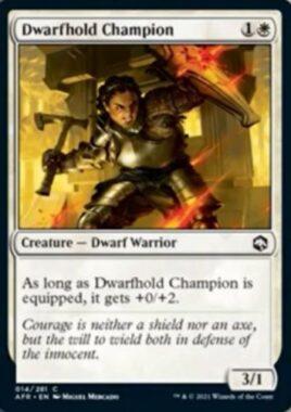 Dwarfhold Champion(フォーゴトン・レルム探訪)