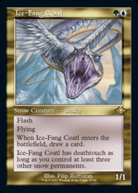 氷牙のコアトル(Ice-Fang Coatl)モダンホライゾン2