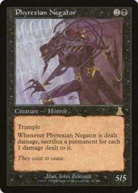 ファイレクシアの抹殺者/Phyrexian Negator:ウルザズ・デスティニー再録禁止カード