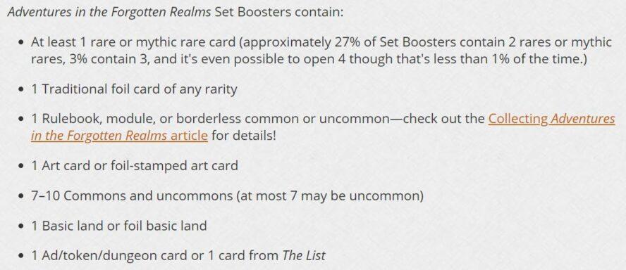 フォーゴトン・レルム探訪「セット・ブースター」パック封入カード