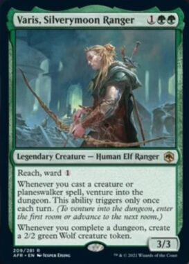 英語版の銀月街のレンジャー、ヴェイリス(Varis, Silverymoon Ranger)