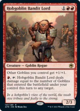 英語版のホブゴブリンの山賊の頭(Hobgoblin Bandit Lord)