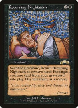 繰り返す悪夢/Recurring Nightmare:エクソダス再録禁止カード