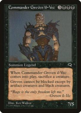 司令官グレヴェン・イル=ヴェク/Commander Greven il-Vec:テンペスト再録禁止カード