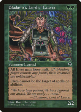 葉の王エラダムリー/Eladamri, Lord of Leaves:テンペスト再録禁止カード