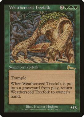 ウェザーシード・ツリーフォーク/Weatherseed Treefolk:ウルザズ・レガシー再録禁止カード