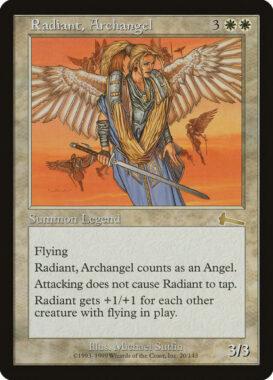 大天使レイディアント/Radiant, Archangel:ウルザズ・レガシー再録禁止カード