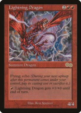 稲妻のドラゴン/Lightning Dragon:ウルザズ・サーガ再録禁止カード