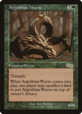 アルゴスのワーム/Argothian Wurm:ウルザズ・サーガ再録禁止カード