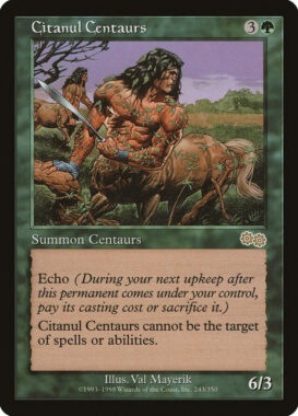 シタヌールのケンタウルス/Citanul Centaurs:ウルザズ・サーガ再録禁止カード