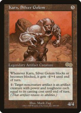 銀のゴーレム、カーン/Karn, Silver Golem:ウルザズ・サーガ再録禁止カード