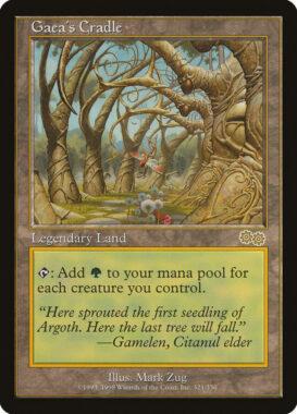 ガイアの揺籃の地/Gaea's Cradle:ウルザズ・サーガ再録禁止カード