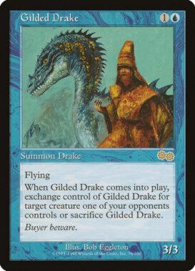 金粉のドレイク/Gilded Drake:ウルザズ・サーガ再録禁止カード