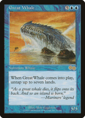 巨大鯨/Great Whale:ウルザズ・サーガ再録禁止カード