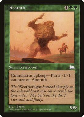 アボロス/Aboroth:ウェザーライト再録禁止カード
