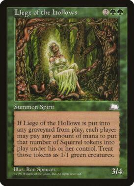 うろの下僕/Liege of the Hollows:ウェザーライト再録禁止カード