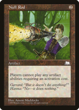 無のロッド/Null Rod:ウェザーライト再録禁止カード