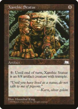 黄金像/Xanthic Statue:ウェザーライト再録禁止カード