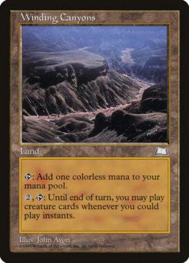 七曲がりの峡谷/Winding Canyons:ウェザーライト再録禁止カード