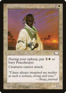 平和の番人/Peacekeeper:ウェザーライト再録禁止カード