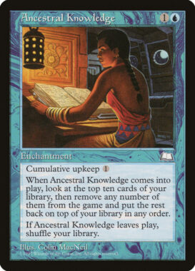 祖先の知識/Ancestral Knowledge:ウェザーライト再録禁止カード