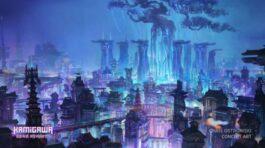 神河:輝ける世界の街の様子