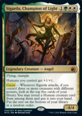 英語版の光の勇者、シガルダ(Sigarda, Champion of Light)