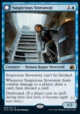 Suspicious Stowaway(イニストラード:真夜中の狩り)
