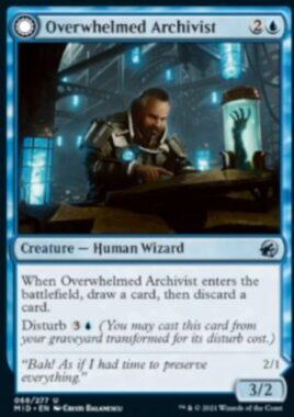 Overwhelmed Archivist(イニストラード:真夜中の狩り)