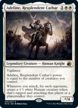 英語版の輝かしい聖戦士、エーデリン(Adeline, Resplendent Cathar)