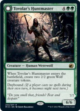 英語版のトヴォラーの猟匠(Tovolar's Huntmaster)