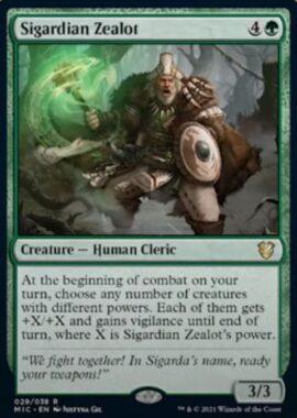 Sigardian Zealot(イニストラード:真夜中の狩り)