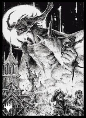 堕落者、オーメンダール(永遠の夜アート):エンスカイ「イニストラード:真夜中の狩り」スリーブ